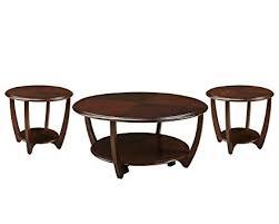 Standard Furniture Seattle II 3 Pack Accent Tables Dark Cherry