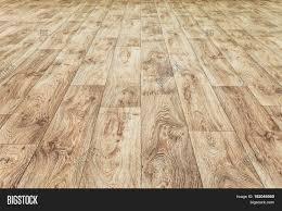 Linoleum Flooring With Embossed Wood Texture Brown Floor Large Area Horizontal Layout Perspective