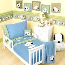 Lambs Ivy Peek A Boo Snoopy 4 Piece Toddler Set Green Nursery Baby Bedroom Decor South
