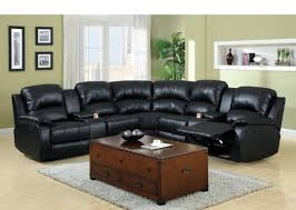 Brown Sectional Living Room Ideas by Sofa Sectional With Chaise Brown Leather Reclining Sectional