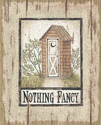 Avanti Outhouse Bath Accessories by Nothing Fancy Outhouse By Linda Spivey Art Print Framed