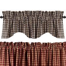 Pennys Curtains Valances by Heritage House Check Valances Primitive Home Decors