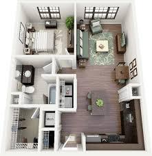 "50 e ""1"" Bedroom Apartment House Plans"