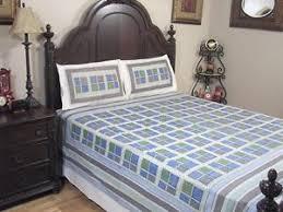 Blue Patola Paisley Bedding 3P Cotton Sheet Gold Print Luxury