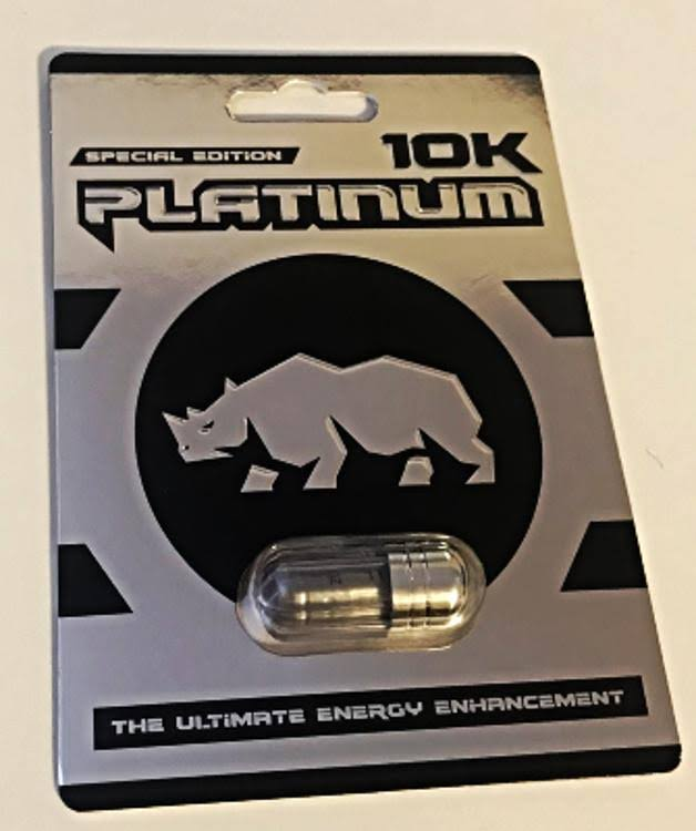 Rhino Platinum 10k 100% Authentic with Real Rhino Logo 3 Pills