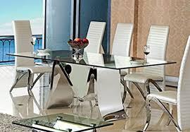 wohnen luxus esstisch marta aus edelstahl glas 180 x 90 x 76 cm mit 15 mm sicherheitsglas tisch