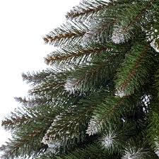 Realistic Artificial Christmas Trees Canada by Artificial Christmas Tree Spruce In Burlap Base White Artificial
