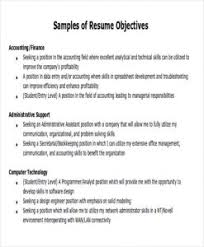 Employment Objectives Examples Professional Career Example