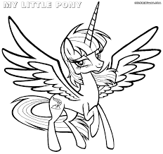 My Little Pony Unicorn With Wings For Kids Coloring Book