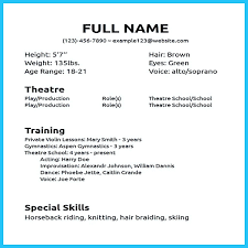 Theatre Resume Template Word Movementappio