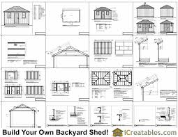 Saltbox Shed Plans 12x16 by 12x16 Hip Roof Shed Plans