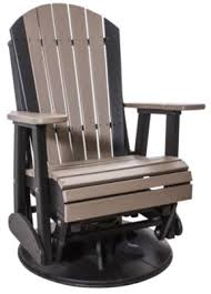 amish outdoors adirondack outdoor swivel glider chair homemakers