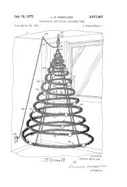 Spiral Christmas Tree Lighted by Patent Us3677867 Collapsible Artificial Christmas Tree Google