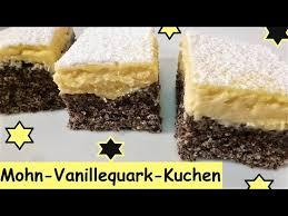 mohn vanillequarkkuchen in 10 minuten bereit für den ofen