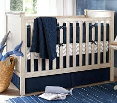 Belgian Linen Nursery Bedding - Navy | Pottery Barn Kids Pottery Barn Kids Coastal Tie Dye Crib Baby Quilt Bumper Setblue Belgian Linen Nursery Bedding Navy Organic Naturals Dot Grey And Light Blue Checked Boys Barn Kids Nantucket Sesucker Crib Bumper Skirt Blue White Madras Whats It Worth Pink Fabric Nelope Bird Set New Dinosaur N Mercari Buy Sell Clothes And More Store Moon Stars