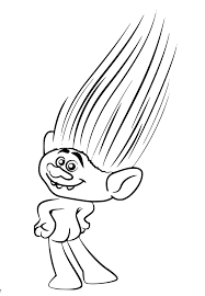 Branch Trolls Coloring Page Lovely Trolls Poppy And Branch Free