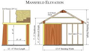 12x12 Shed Plans Pdf by Best Barns Mansfield 12x12 Wood Storage Shed Kit
