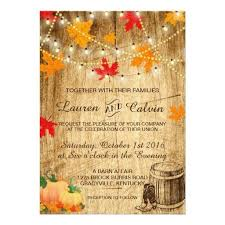 Fall Wedding Invitation For A Rustic