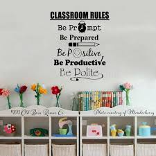 Student Quotes Wall Decals Classroom Rules Art Calligraphy Vinyl Stickers For Nursery School Decor