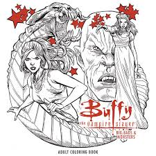 Buffy The Vampire Slayer Big Bads And Monsters Adult Coloring Book TPB Profile Dark Horse Comics