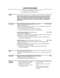 Good Resume Profile Examples As Job