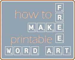 make your own printable word art centsational style