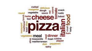 animation cuisine pizza word cloud text design animation stock footage