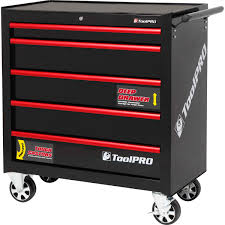 ToolPro Tool Cabinet - 5 Drawer, Roller Cabinet, 36