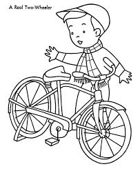 Kids Christmas Bike Coloring Page