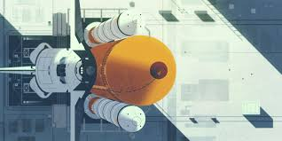 Science Nature Retro Modern Wallpapers Geometric Graphic Illustration By Kevin Dart Space Shuttle