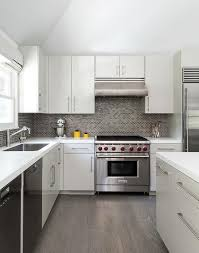 beautiful grey brick tiles kitchen white and gray kitchen with