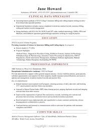 Free Icd 10 Project Manager Resume Entry Level Clinical Data Specialist Sample