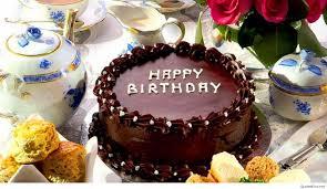 Happy Birthday Chocolate Cake Wallpaper HD