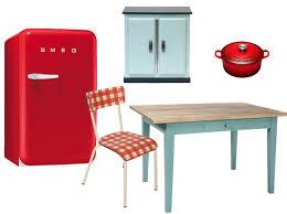 table de cuisine vintage le succès des cuisines vintages décoration