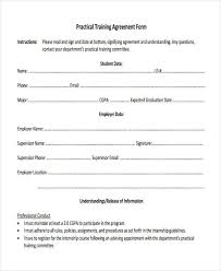 8 Training Agreement Form Samples Free Sample Example Format