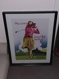 deko bilder drucke mit golf motiv mit sport thema fürs
