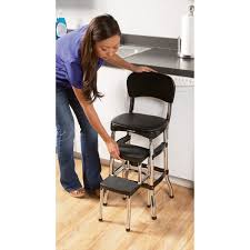 Cosco Counter Chair Step Stool by Red Retro Step Stool With Chair Ladders Stepstools Northern