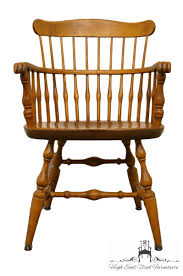 NICHOLS & STONE Solid Maple Spindle Back Dining Arm Chair
