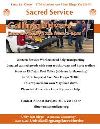 Sacred Service Drivers Needed | Unity San Diego Crst Truck Driving School San Diego Best Resource Cdl Traing Roadmaster Drivers La To Consider Blocking Trucking Companies That Use Ipdent Free Truck Driver Traing Job Billigfodboldtrojer Windshield Replacement Chula Vista Glass Repair Why Was Arlington Picked Be A Testing Ground For Selfdriving Craigslist Jobs Dallas Txcraigslist For Akron Ohiocraigslist California Local In Ca Emergency Vehicles Touch A Robots Could Replace 17 Million American Truckers The Next Dannys Ice Cream And Cart 44 Photos 34 Reviews