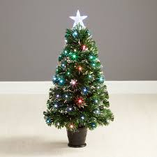White Fibre Optic Christmas Tree 6ft by Trees Lights U0026 Decorations Robert Dyas
