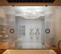 gefrorenes glas effekt dusche wand abtrennung holz