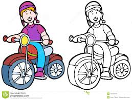 Kid Riding A Bike Stock Vector Clipart
