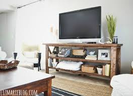 Whether You Want To Add Another Wood Accent Your Homespun Abode Or Bring Some Rough Hewn Contrast Urban Chic Apartment This DIY TV Stand Is A
