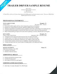 Truck Driver Skills Resume Luxury Qualifications Sample And