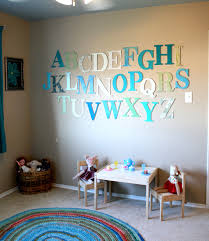 DIY Alphabet Wall Art Projects For Kids Room