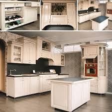 landhausküche antibes küchenzeile 5 4m mit kochinsel komplettküche mit e geräten eiche creme
