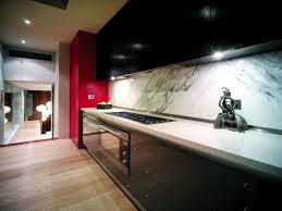 Zephyr Terrazzo Under Cabinet Range Hood by Interior Modern Home Interior Design Beautifies With Red Accent