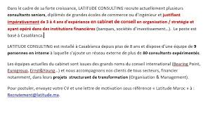 lettre de motivation cabinet de conseil ailancy bureau de casablanca linkedin