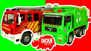 100 Fire Trucks Toys Dickie Engine Garbage Truck Train Lightning McQueen Toy Crash Testing Mega Review