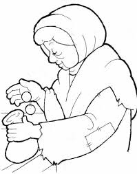 Widows Mite Coloring Page